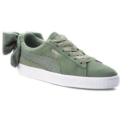 Puma Sneakersy - suede bow uprising wn's 367455 02 laurel wreath/puma white