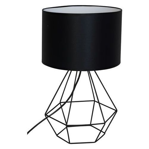 Lampka biurkowa Luminex Alma 8970 lampa stołowa nocna diament 1x60W E27 czarna, 8970