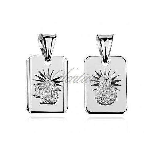 Srebrny medalik jezus matka / boska szkaplerzna - gmd010 od producenta Sentiell