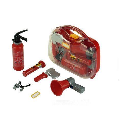 strażak zestaw strażaka w walizce gaśnica megafon z dźwiękiem marki Klein