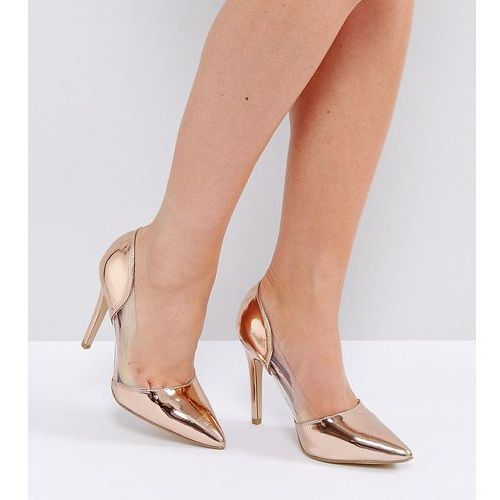 wide fit clear pointed heeled shoes - pink marki New look