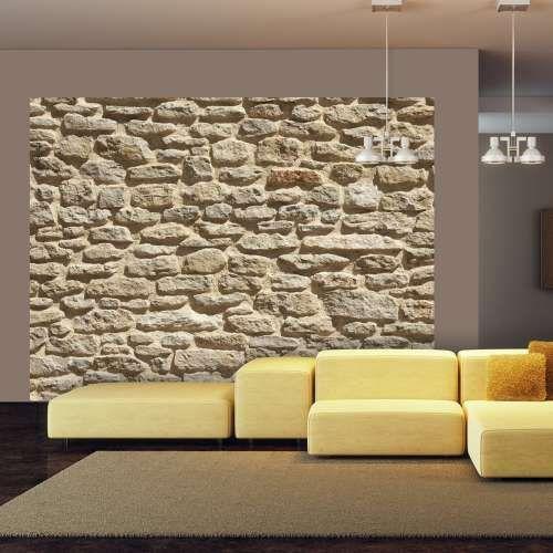 Fototapeta - Stara kamienna ściana z kategorii Kamień