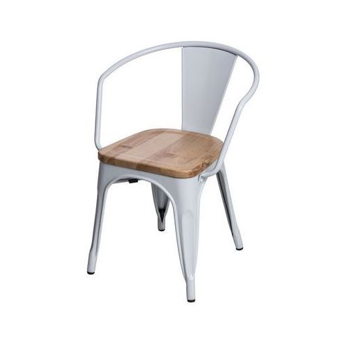D2.design Krzesło paris arms wood sosna naturalna - biały