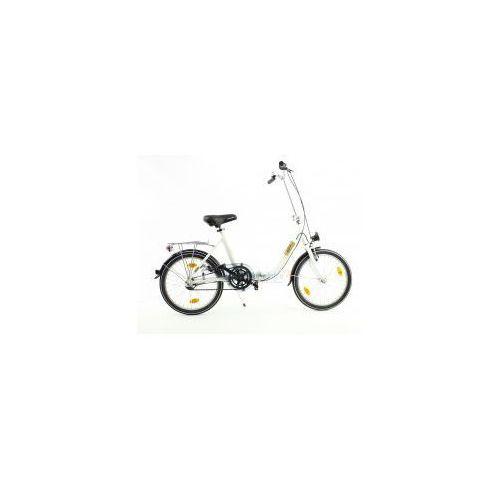 Aluminiowy rower składany składak niska rama mifa 3-biegi shimano nexus biały marki Mifa germany