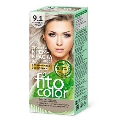 Fitokosmetik Fito*farba do włosów fitocolor 9.1 blond popielaty - fitocosmetics