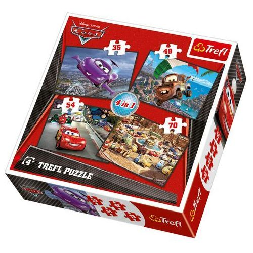 Puzzle 4w1 Auta wyruszamy w podróż TREFL (5900511341072)