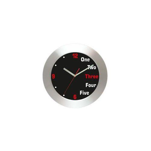 Zegar ścienny aluminiowy cyferki #4, AL2412BL