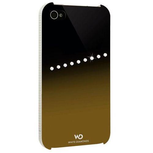 Etui HAMA do iPhone 4 White Diamonds Sash Złoty, kolor biały