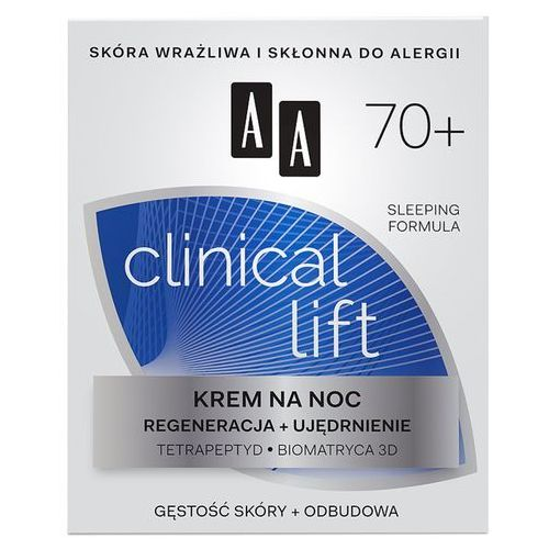 AA Clinical Lift 70+ Krem na noc regenerująco-ujędrniający 50ml