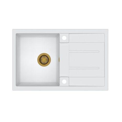 Quadron Zlewozmywak morgan 111 graniteq hb8203u1-g1 złoty/biały metalik (5903242531583)