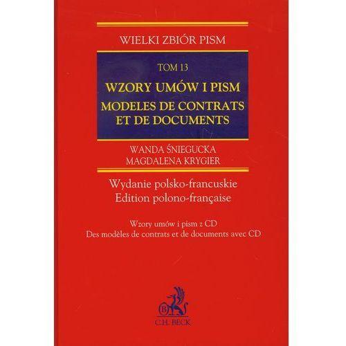 Wzory umów i pism Modeles de contrats et de documents tom 13 + CD (518 str.)