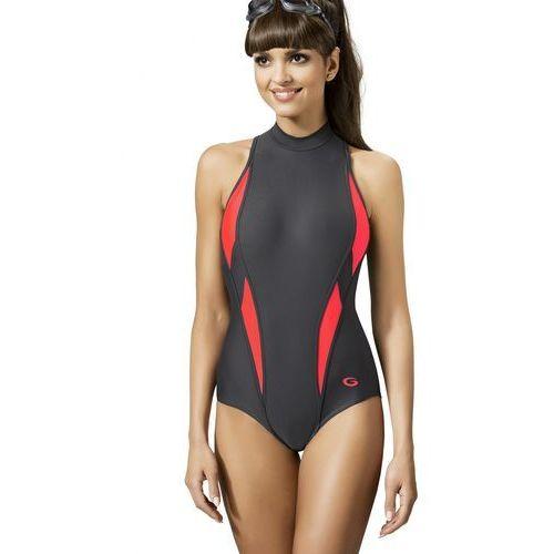 f399e09301f5de Jednoczęściowy strój kąpielowy Kostium jednoczęściowy Model AQUA SPORT I  Grafit/Pink - GWINNER