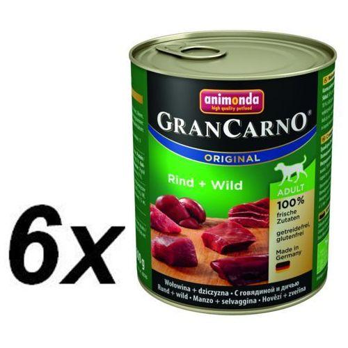 ANIMONDA Grancarno Adult Dog smak: Wołowina i Dziczyzna 800g - 800