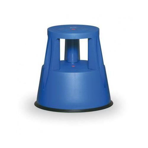 B2b partner Taboret biurowy mobilny plastikowy, niebieski
