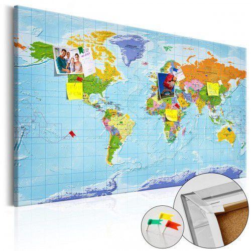 Obraz na korku - Mapa świata: Flagi państw [Mapa korkowa], A0-Pinnwand605 (7809792)