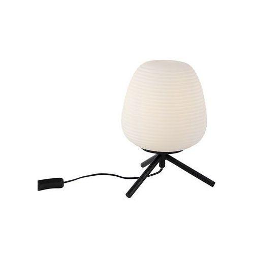 Designerska lampa stołowa czarna mleczne szkło 20 cm - hero marki Qazqa