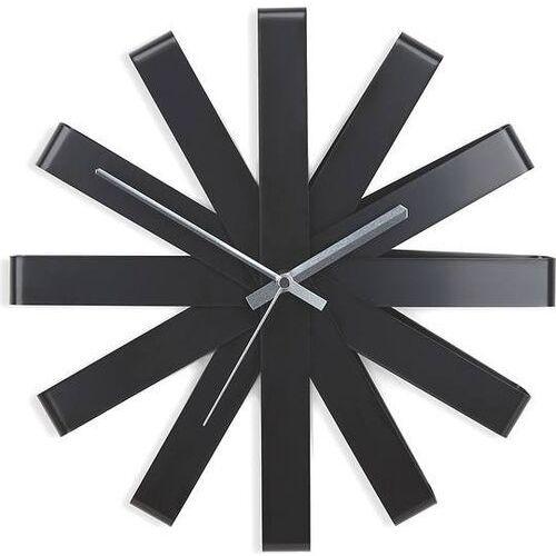 Zegar ścienny ribbon czarny marki Umbra