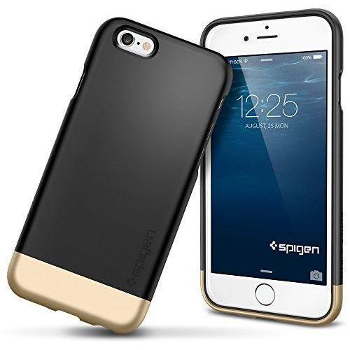 Etui SPIGEN do iPhone 6 Case Style Armor Series Smooth Czarny, kolor czarny