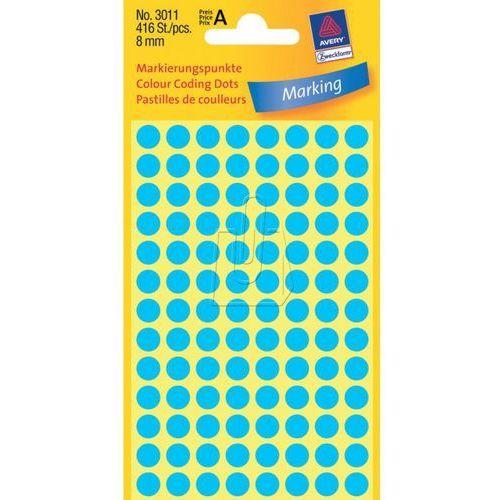 Etykiety niebieskie kółka do zaznaczania 8mm Avery Zweckform 3011