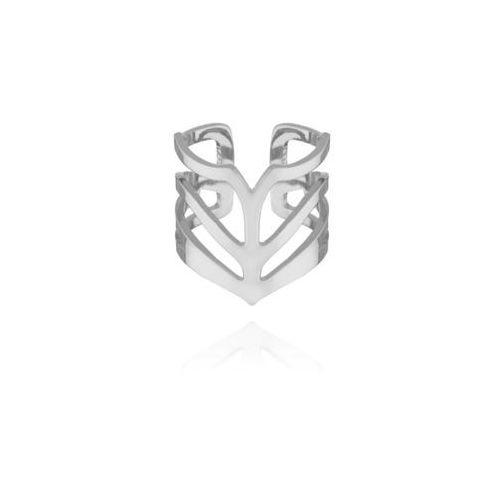Nausznica No.1 srebrna, kolor szary