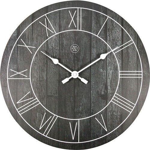 Nextime Zegar ścienny paul ciemny drewniany (8717713026433)