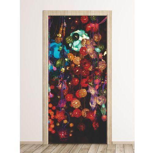 Fototapeta na drzwi kolorowe lampiony FP 6270