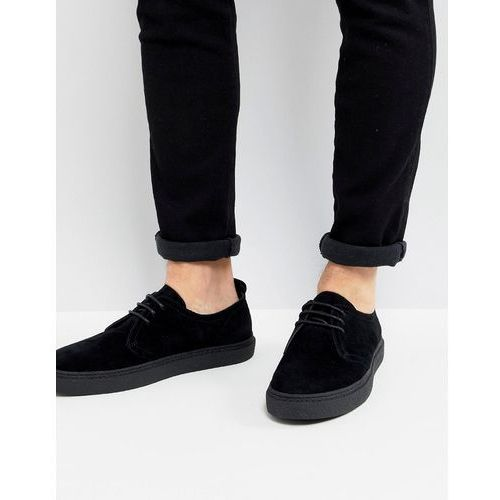 Fred Perry Linden Suede Shoes In Black - Black