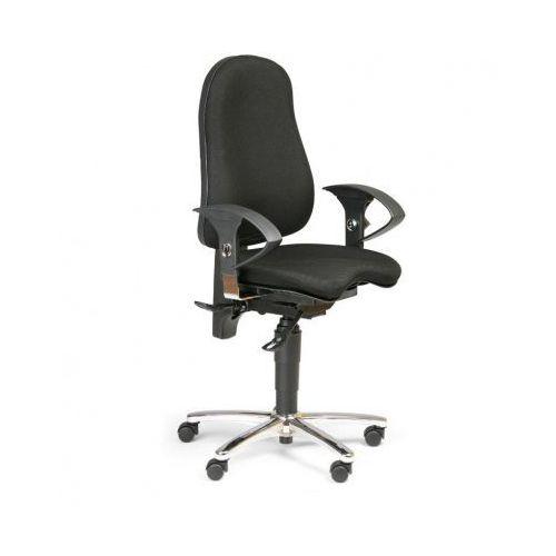 Krzesło biurowe exeter, czarne marki Topstar