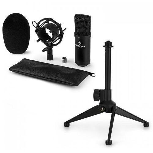 CM00B V1 mikrofon studyjny z uchwytem pająkiem i statywem stołowym czarny