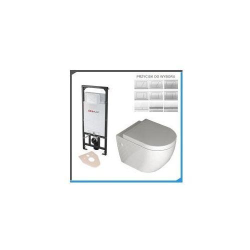 Zestawy Kompletny zestaw podtynkowy do wc z misą rea carlo mini rimless lux