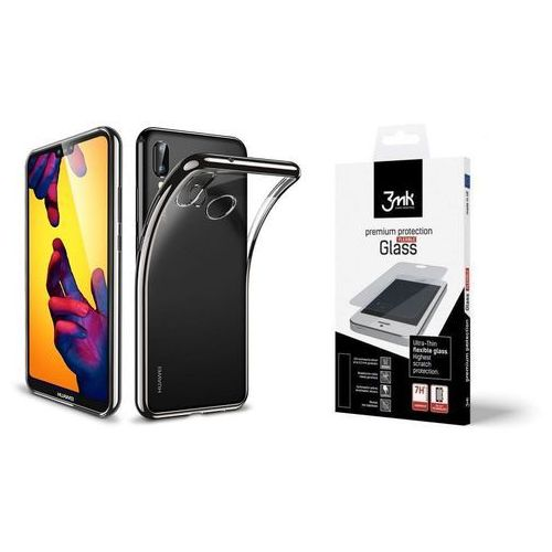 Zestaw | Etui ESR Essential Black + Folia Ceramiczna 3MK Flexible Glass dla modelu Huawei P20 Lite