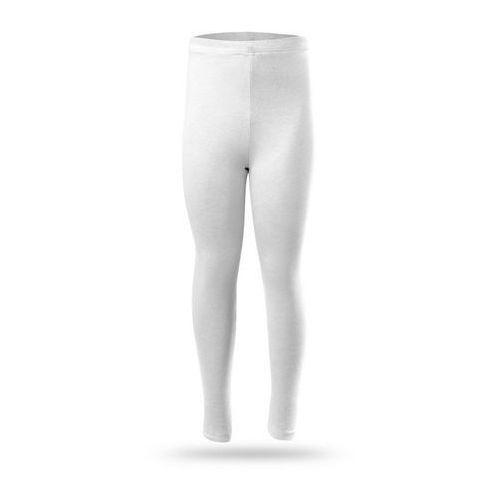 Legginsy RENNWEAR - długie białe - biały, kolor biały