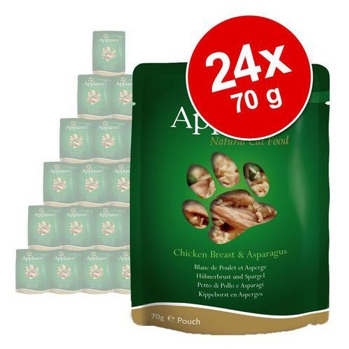 Megapakiet Applaws Selection, 24 x 70 g - Kurczak i dziki ryż