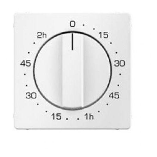 BERKER Q.1 Płytka czołowa z pokrętłem regulacyjnym do łącznika czasowego 0-120 min, biały, aksamit 16336089 (4011334313816)