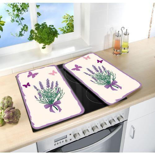 Szklane płyty ochronne lavender-bouquet na kuchenkę - 2 sztuki, marki Wenko