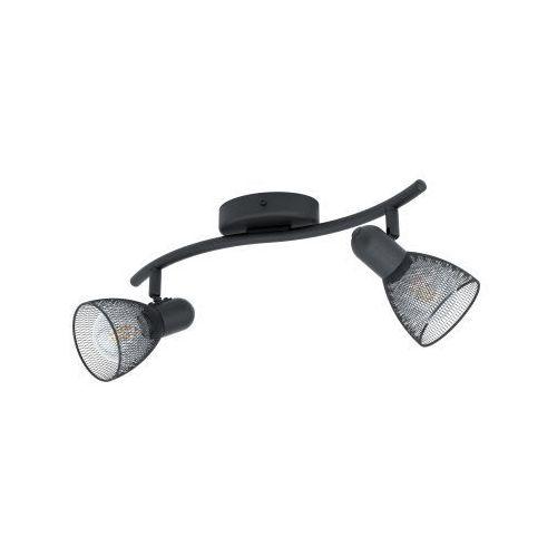 carovigno 98622 listwa lampa oprawa sufitowa 2x40w e14 czarna marki Eglo