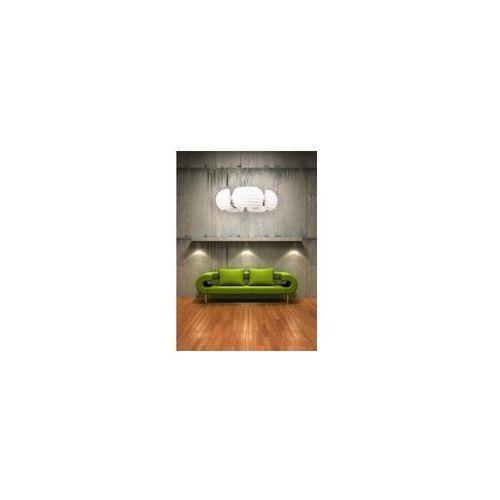 Azzardo rondo az0115 dh 6081-5 lampa wisząca zwis oprawa 5x40w e14 biała/chrom (5901238401155)