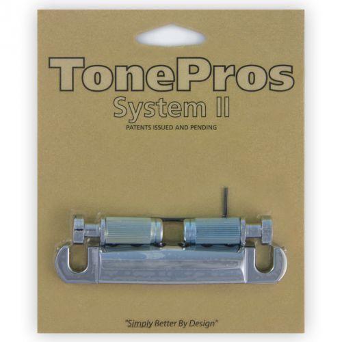 Tonepros t1zs-c - tailpiece, części mostka do gitary, chromowane