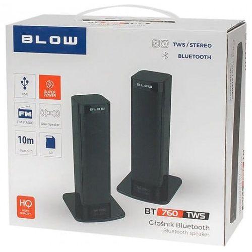 Zestaw głośników bluetooth bt760tws 30-338# 2.0 kolor czarny- natychmiastowa wysyłka, ponad 4000 punktów odbioru! marki Blow
