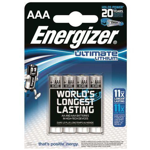 4 x bateria foto litowa  l92 ultimate lithium r03 aaa marki Energizer