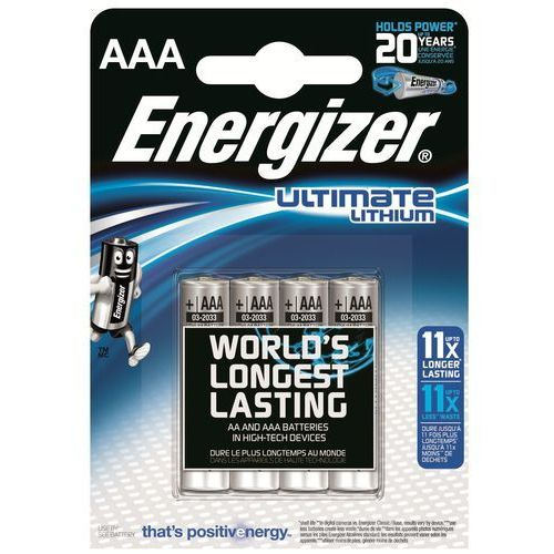 Energizer 4 x bateria foto litowa  l92 ultimate lithium r03 aaa