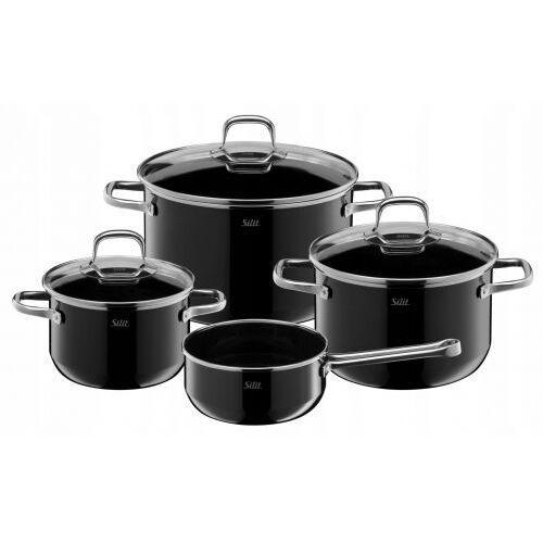 Silit elegance line black 4cz. - zestaw garnków, silargan (4004633304807)