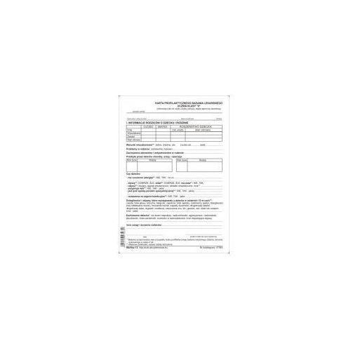 """Karta profilaktycznego badania lekarskiego ucznia klasy """"0"""" [Mz/Hsz-12]"""