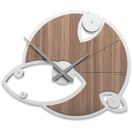 Zegar ścienny andromeda swarovski orzech włoski (10-128-85) marki Calleadesign