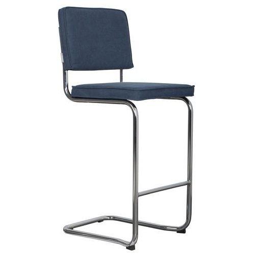 Zuiver stołek barowy ridge kink vintage marynarski niebieski 1500031