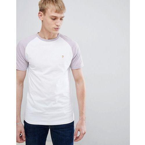 Farah Zemlak Slim Fit Reglan Sleeve T-Shirt in Lilac - Purple