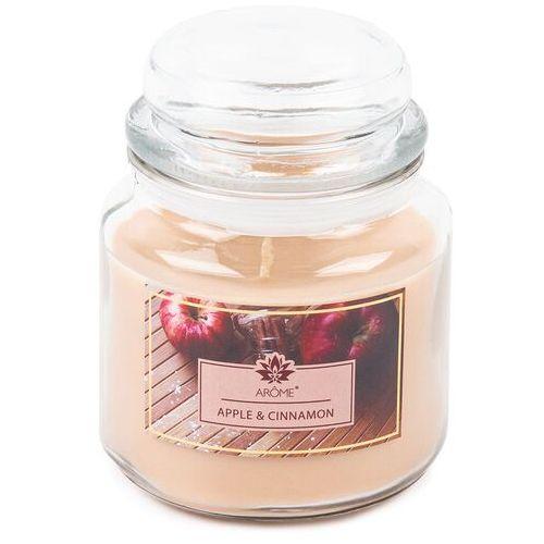 Arome Duża świeczka zapachowa w szkle Apple and Cinnamon, 424 g