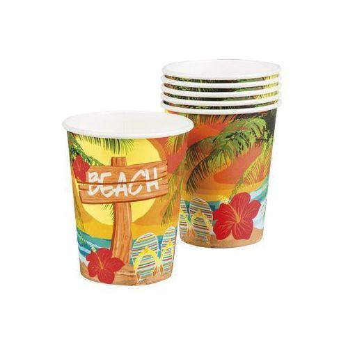 """Kubeczki papierowe """"Hawajska plaża"""" 6 szt."""