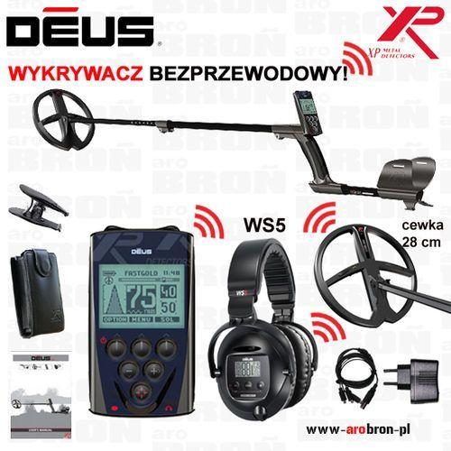 "Xp metal detectors Wykrywacz metali xp deus ws5 cewka 28 cm dd (11"" dd) słuchawki ws 5 - mega zestaw! gw: 5lat"