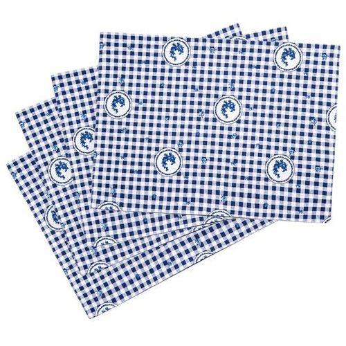 Trade Concept Podkładka Country kratka niebieski, 33 x 45 cm, 4 szt.